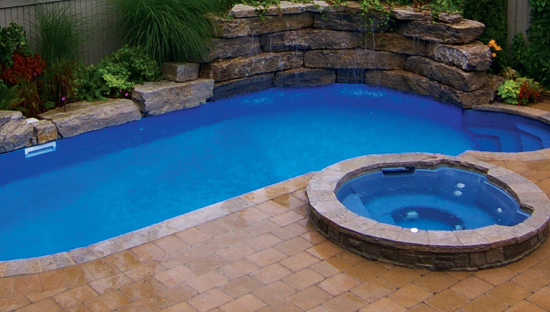 Lv3 fiberglass inground pool for Above ground fiberglass pools