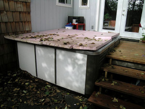 What happens when you don't take care of your hot tub cover!