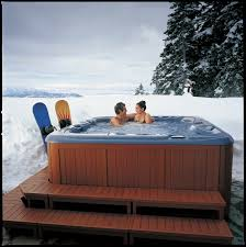 hot tub spa winter