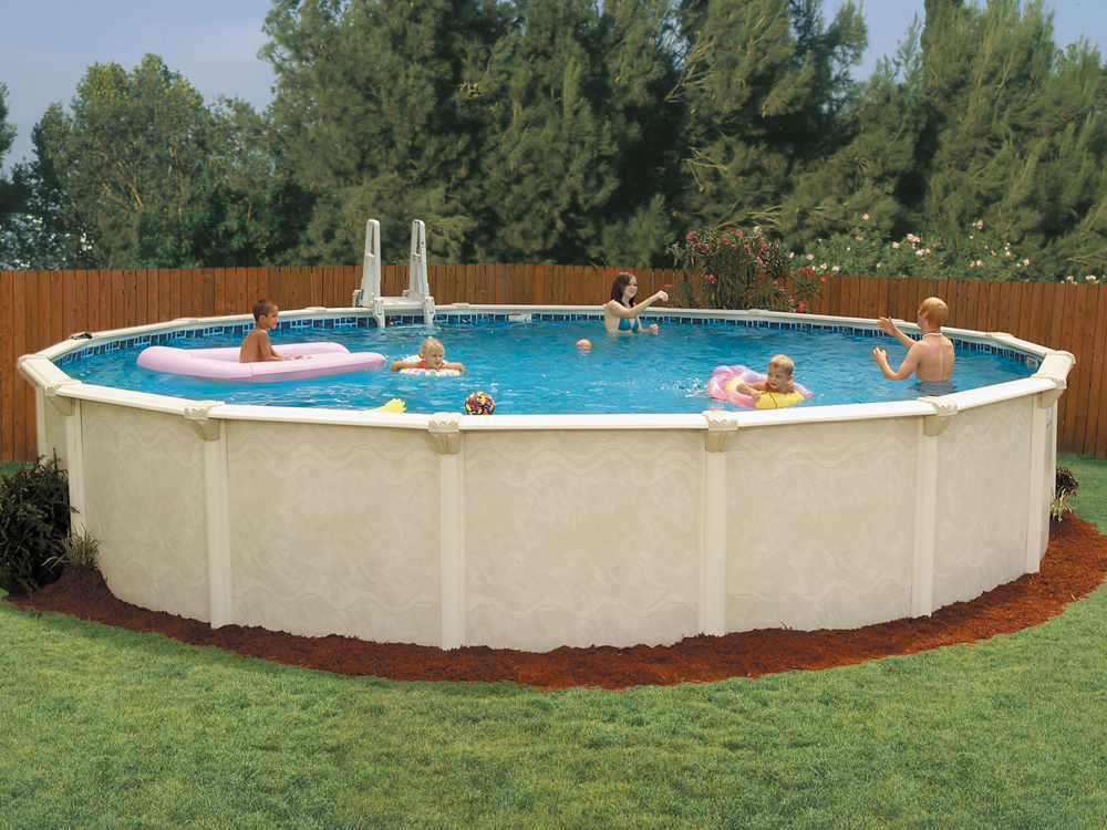 Gallery above ground pool gallery for Round swimming pools above ground