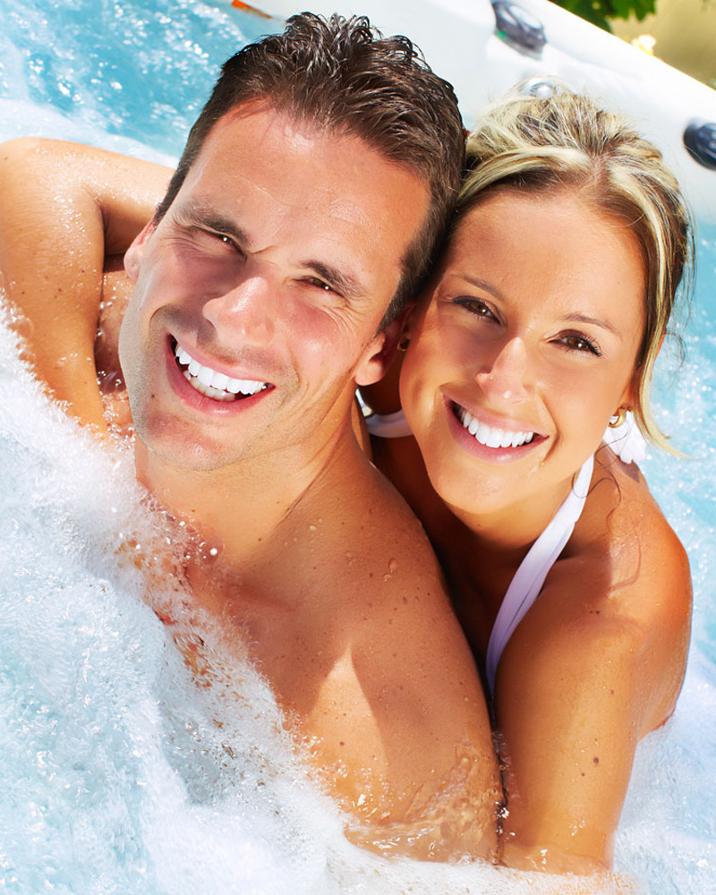 Man and Woman Enjoying Spa
