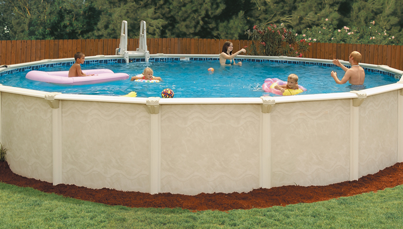 Brothers pool doughboy embassy pools for Resin above ground swimming pools