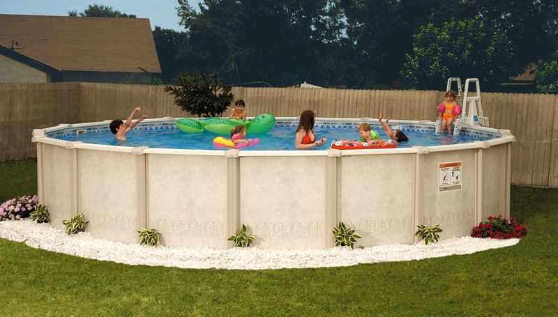 Autumn breeze by doughboy pools above ground pools for - Above ground oval swimming pools for sale ...