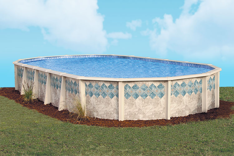 Copper canyon by doughboy pools above ground pools for for Homes with inground pools for sale near me