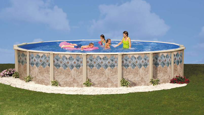 Copper canyon by doughboy pools above ground pools for - Above ground oval swimming pools for sale ...